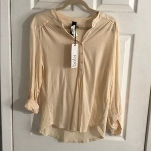 NWT - Bobi Cream Knit Top